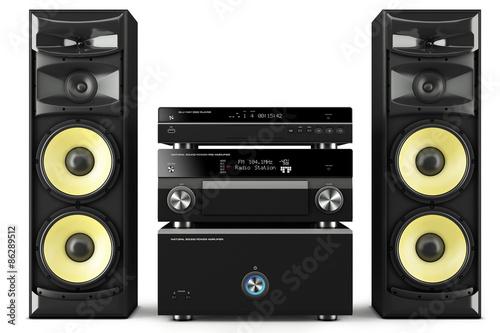 Fotomural Hi-Fi stereo system