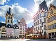 canvas print picture - Trier – Hauptmarkt mit Sankt Gangolf und Steipe