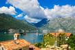Harbour at Boka Kotor bay (Boka Kotorska), Montenegro, Europe.
