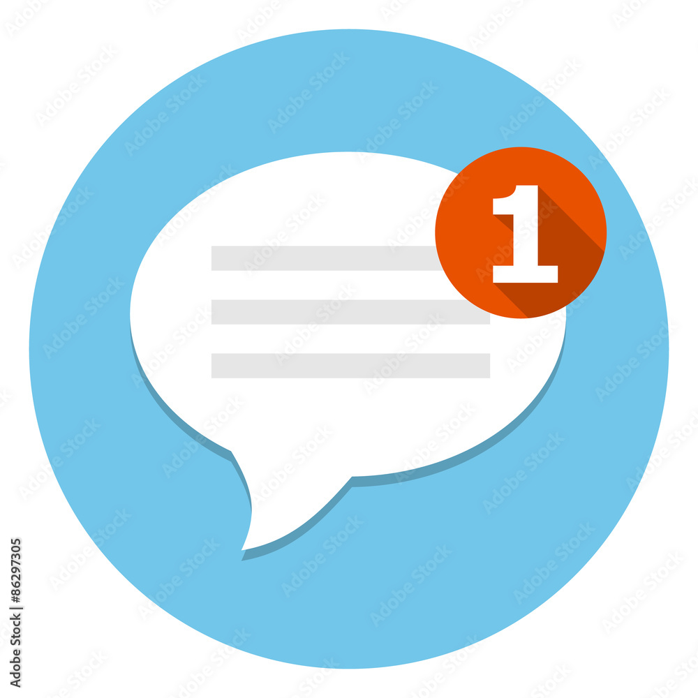 Fototapety, obrazy: New message icon