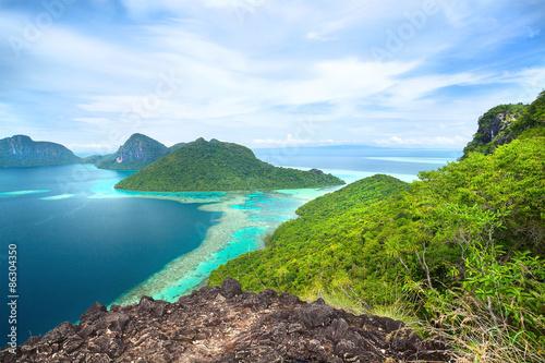 Fotomural beautiful scenery on an island