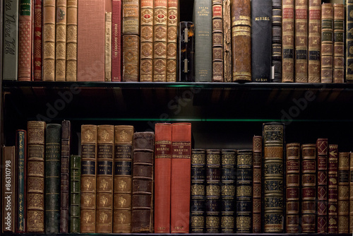 Fotografie, Tablou  Antique and rare Books Shelf