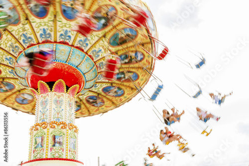 Fotografie, Obraz  Colorful merry-go-round.