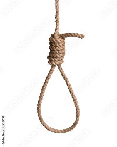 Fotografie, Obraz  hangman's knot isolated on white