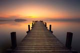 Fototapeta Most - mitten im See
