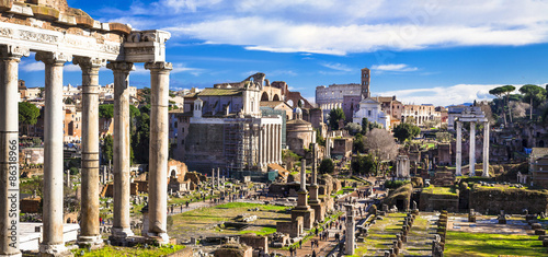 Fotomural Great Rome - panoramic view of imperial forum