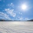 winter plain in a snow