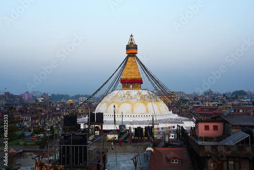 Staande foto Nepal view of Boudhanath stupa in Kathmandu, Nepal