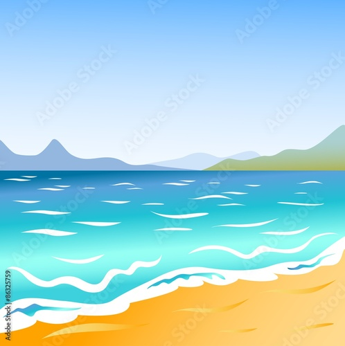 Staande foto Turkoois Seascape background