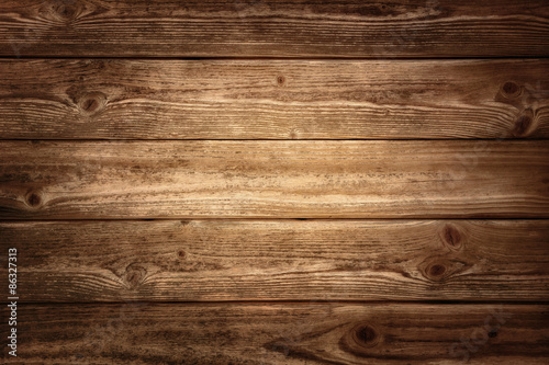 Rustic wood planks background - 86327313