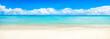 Sommer Sonne Meer und Strand als Panorama Hintergrund