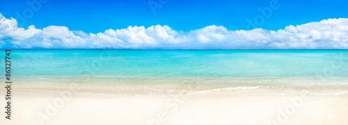 Recess Fitting Panorama Photos Sommer Sonne Meer und Strand als Panorama Hintergrund