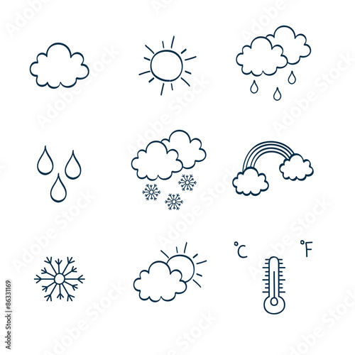 Fototapeta Hand-drawing notes simbols obraz na płótnie