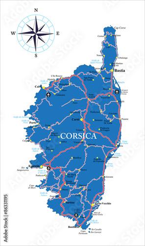 Photo  Corsica map