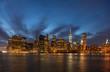 Downtown Manhattan skyline night shot