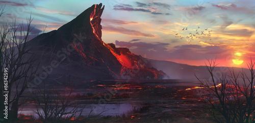 volcano Canvas-taulu