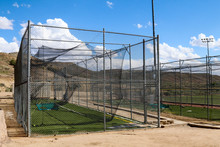 Empty Batting Cage Outside At ...