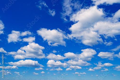Aluminium Prints Heaven Blue sky with clouds.