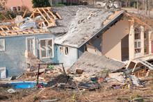 Aftermath Of A Tornado Damaged...
