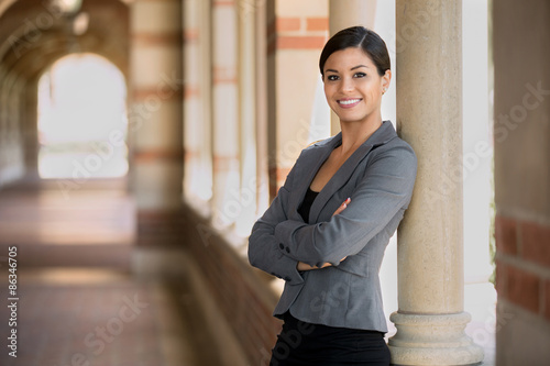 Fototapety, obrazy: Executive woman management powerful posture standing proud