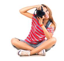 Beauty Teenage Girl Photograph...