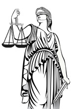Justice.Greek Goddess Themis.Equality .A Fair Trial.Law.
