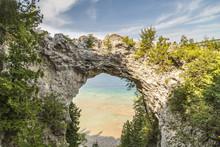 Arch Rock At Mackinac Island, Michigan
