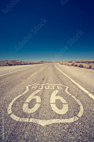Spoed Fotobehang Route 66 Route 66, symbol of the nostalgic highway of the USA