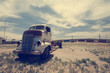 Old truck out in the field