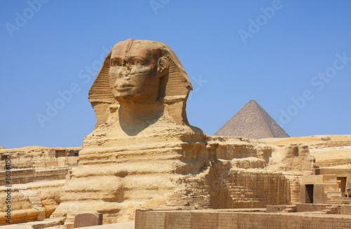 In de dag Egypte The Sphinx and Pyramids in Egypt