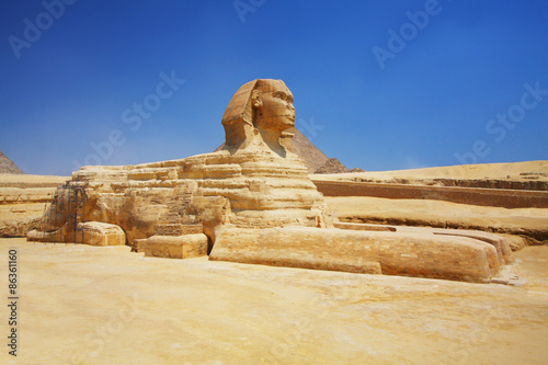 Tuinposter Egypte The Sphinx and Pyramids in Egypt