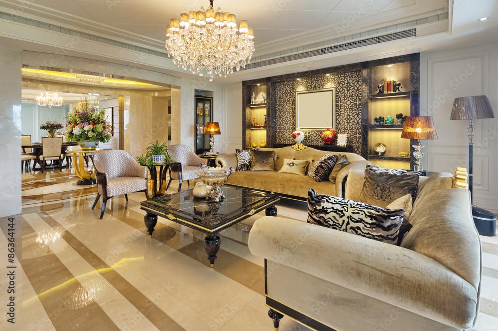 Fototapeta luxury living room interior