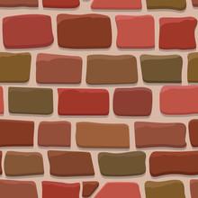 Seamless Texture Of A Cartoon Brick Wall