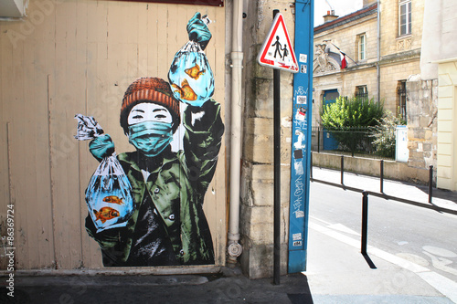 Naklejka premium Street art w Paryżu