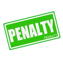 PENALTY White Stamp Text On Gr...