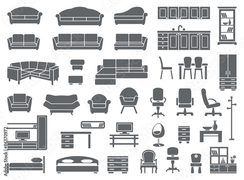 Fotografía  Furniture icon set
