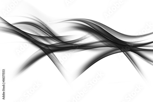 Photo sur Toile Fractal waves Dark Abstract Waves Background