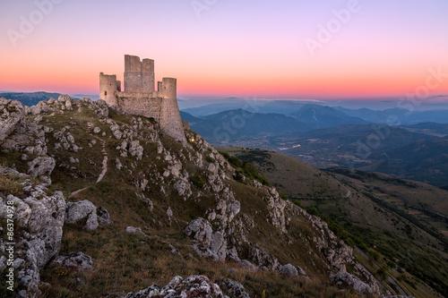Rocca Calascio at dusk, Abruzzo, Italy Canvas Print