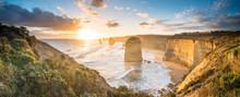 The Twelve Apostles At Great Ocean Road Of Australia.