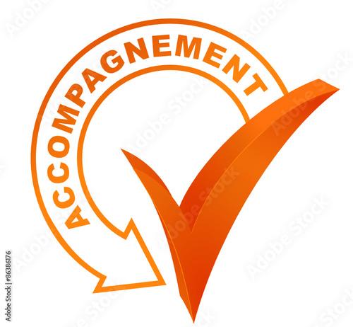 Photo accompagnement sur symbole validé orange
