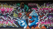 canvas print picture - Graffiti Clown in Mainz Kastel