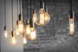 Leinwandbild Motiv Edison Lightbulbs