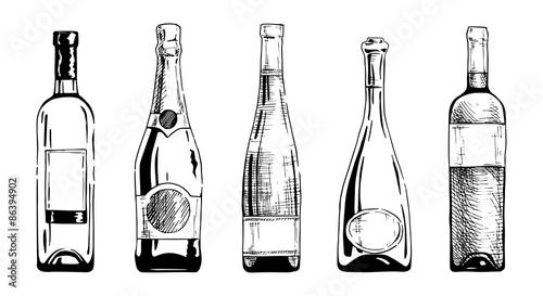 Wine bottle Fototapet