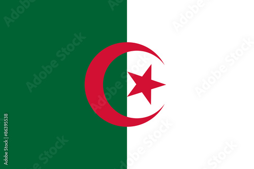 Algeria flag vector Wallpaper Mural