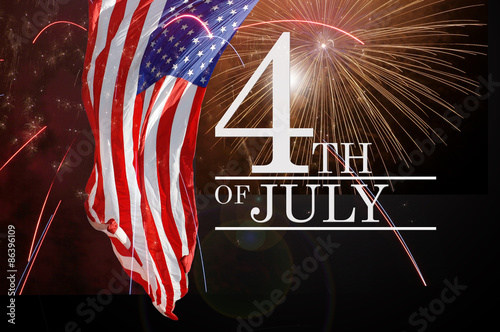 Fotografia  Celebrating the Fourth Of July. Independence day July 4th.