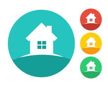 Real Estate House Logo Concept. Eps10 Vector And Color Set.