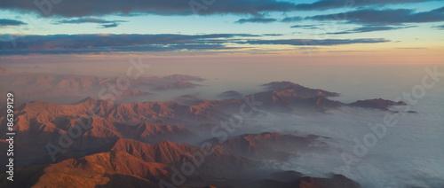 Foto op Aluminium Koraal The Andes mountain foothills