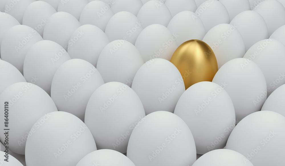 Fototapeta unique golden egg
