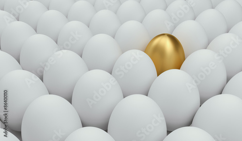 Obraz unique golden egg  - fototapety do salonu