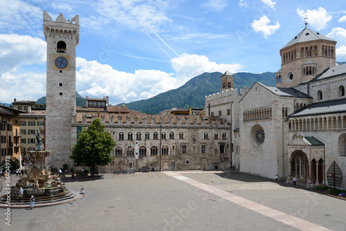 Trento Piazza Duomo and the Torre Civica Slika na platnu